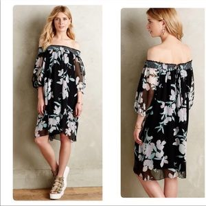 Anthropologie Maeve Paola Silk Swing Dress. Sz M